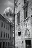 Croatia - Sibenik - monochrome black white photo - 73101127