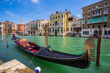 Tourists Travel On Gondolas At...