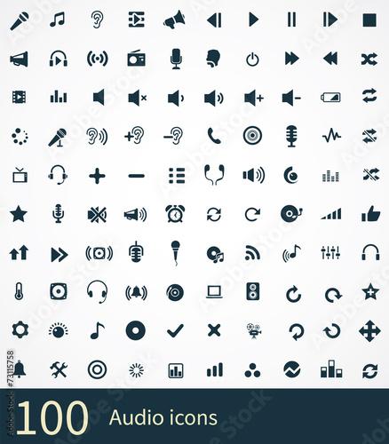Photo  100 audio icon