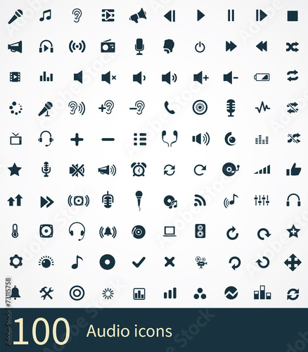 Fotografie, Obraz 100 audio icon