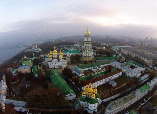 Staande foto Kiev aerial view of Kiev-Pechersk Lavra