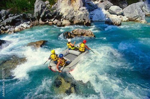 Fototapeta The Soca river, Triglav national park, Slovenia, Europe obraz