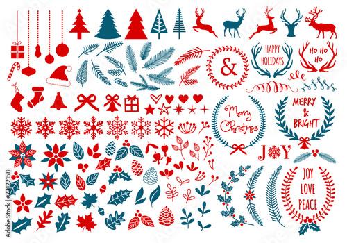 Fotografía  Christmas design elements, vector set