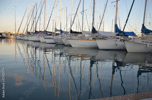 Fotografie, Obraz  Bateau voilier plaisance reflet eau