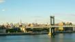 sunset manhattan bridge empire view 4k time lapse nyc