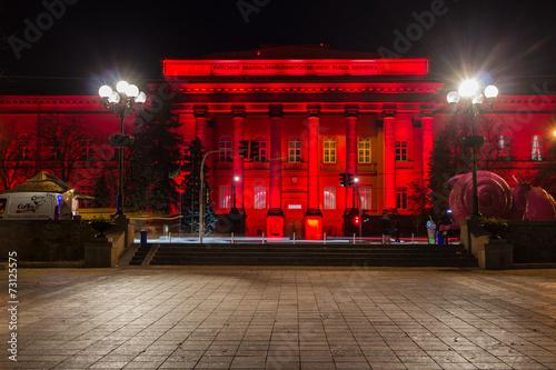 Foto op Plexiglas Kiev Taras Shevchenko National University of Kyiv in night
