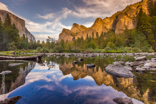 merced river - reflection Wallpaper Mural
