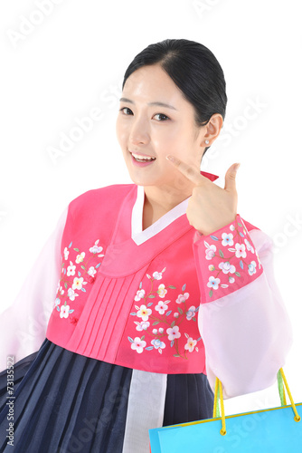 Fotografía  명절 한복의상과 한국의 전통