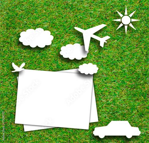 White Paper idea concept on green grass