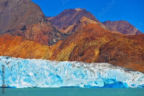 Poster Glaciers Excursion to the white-blue glacier