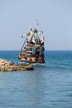 Sea Journey On Vintage Sailships  In Side, Turkey.