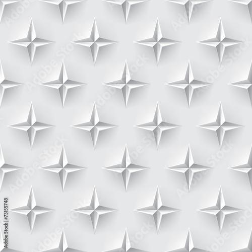 Fototapeta biały trójwymiarowy wzór