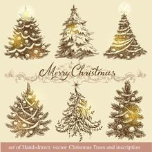 Golden Christmas Trees.