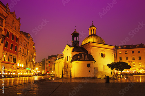 St. Wojciech church at night