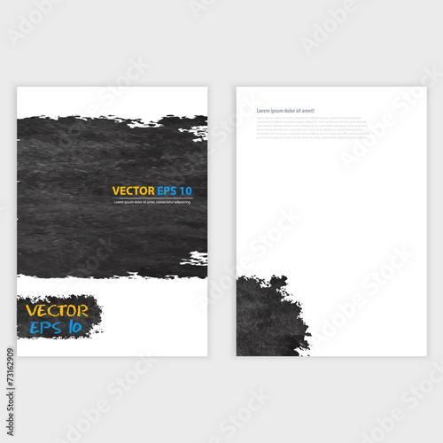 Fototapety, obrazy: Vector Grunge template Flyer design.