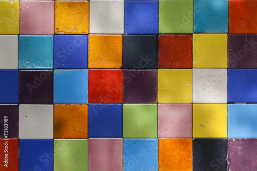 Poster Antwerp colorful ceramic tile patterns background.