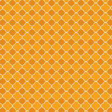 Repeating Orange Quatrefoil Tr...