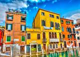 Piękne budynki w Wenecji we Włoszech. Przetwarzanie HDR - 73171352