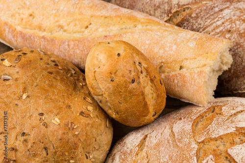 Foto op Plexiglas Bakkerij Close-up of traditional bread