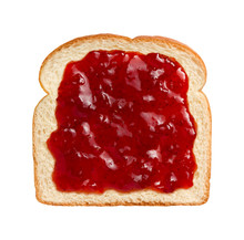 Strawberry Preserves On Bread