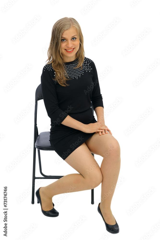 Fototapeta Kobieta siedzi