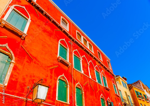 Photo sur Toile Rouge Beautiful very old building at Venice Italy