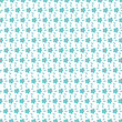 Seamless green simple flower textile pattern
