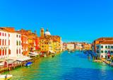 Widok główny kanał przy Wenecja Włochy - 73176934