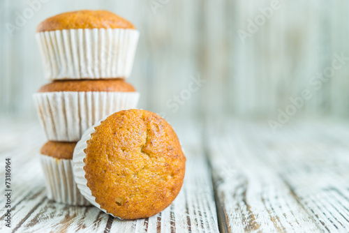 banana muffin cake Wallpaper Mural