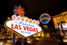 Las Vegas Sign And Strip Stree...