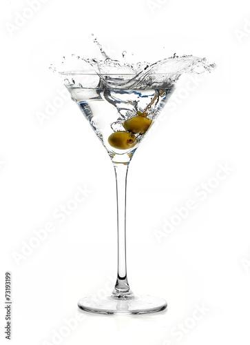 Fotografía  Dry Martini Cocktail with Big Splash