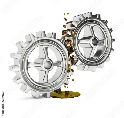 Fotografía  Gears with grease