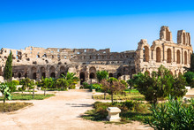 Tunisia. El Jem (ancient Thysdrus). Ruins Of The Largest Colosse