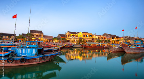 Photo  Hoi An old town in Vietnam after sunset