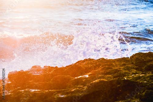 Printed kitchen splashbacks Cappuccino surf at dawn