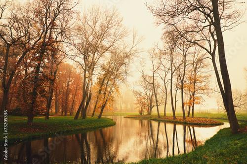 Fototapety, obrazy: Autumn lake
