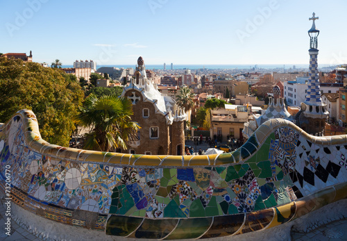 Papiers peints Barcelona Park Guell in Barcelona