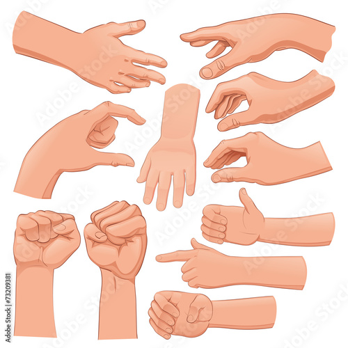 Papiers peints Chambre d enfant Set of several hands