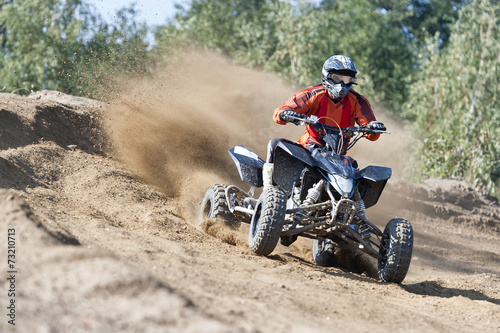 Foto op Canvas Motorsport Rider driving in the quadbike race