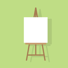 Easel Flat Icon Design Vector Illustration