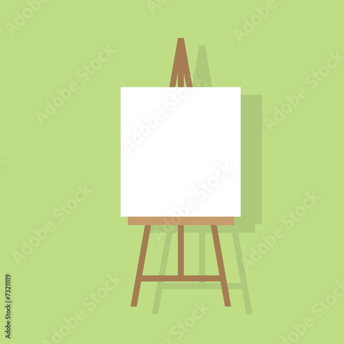 easel flat icon design vector illustration Canvas Print