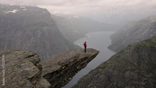 Trolltunga, Norway Fototapet