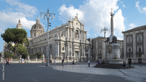 Vászonkép  Cathedral Of Saint Agatha In Catania, Sicily
