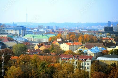 In de dag Praag Vilnius autumn panorama from Gediminas castle tower