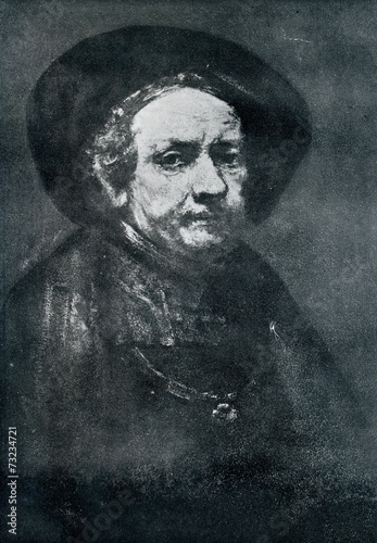 Fotografie, Obraz Rembrant's self portrait