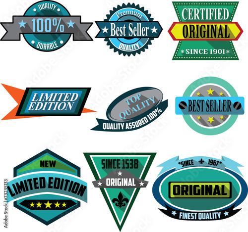 Fotografia  Best Seller, Quality logo badges and labels