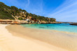 Sandy beach in beautiful bay, Cala Llombards, Majorca island