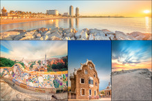 Collage Of Beautiful Barcelona