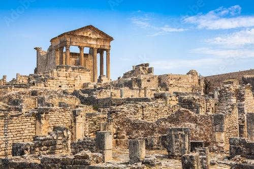 Dougga, Roman Ruins: A Unesco World Heritage Site in Tunisia Wallpaper Mural