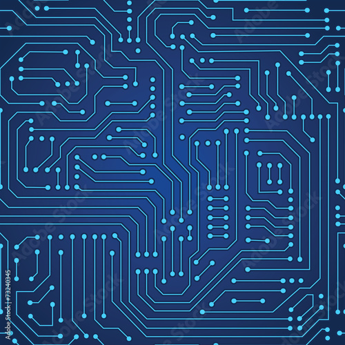 Fotografía  circuit board seamless pattern